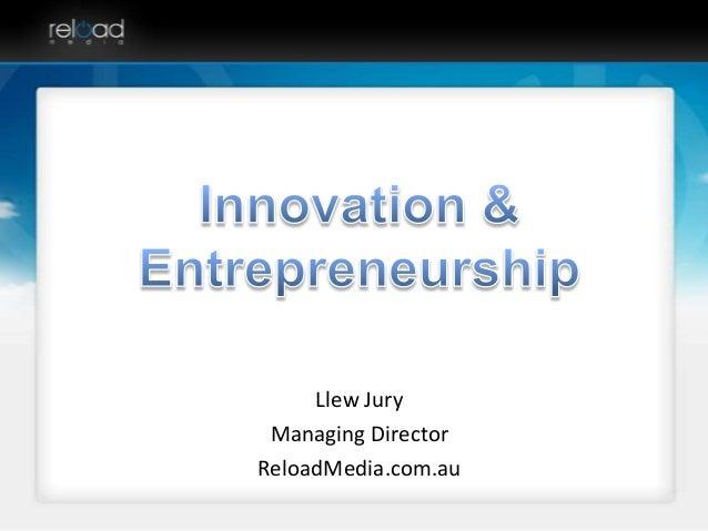 Advanced Master in Innovation & Entrepreneurship