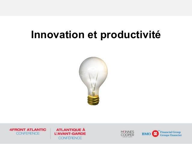 Innovation et productivité