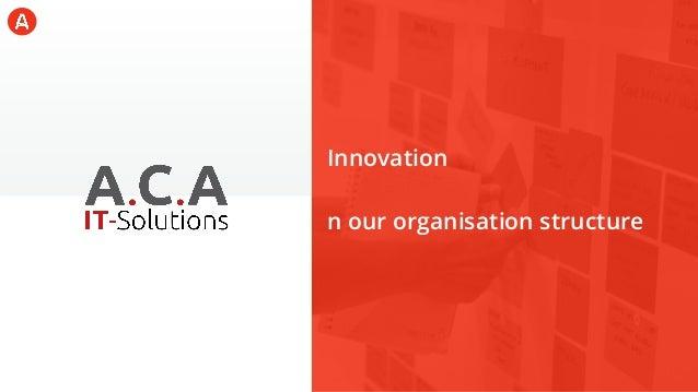 The steps of enterprise innovation at ACA IT-Solutions Slide 2