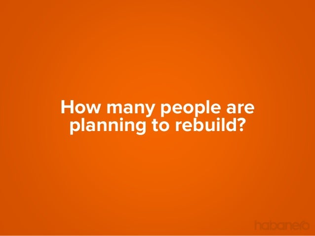 How many people are planning to rebuild?