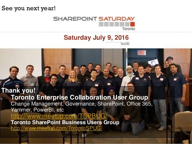 Solving the world's toughest intranet challenges (SharePoint Saturday Toronto)