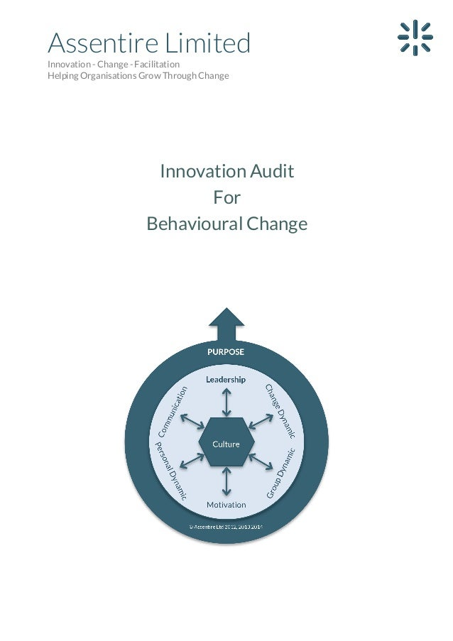 Assentire Limited Innovation - Change - Facilitation Helping Organisations Grow Through Change  Innovation Audit For Behav...