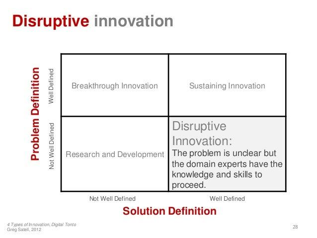 Disruptive innovation28Breakthrough Innovation Sustaining InnovationResearch and DevelopmentDisruptiveInnovation:The probl...