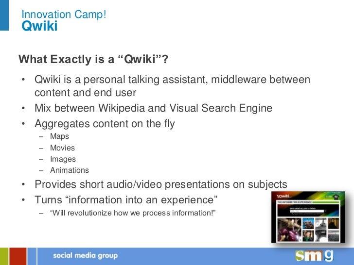 SMG Innovation Camp - Qwiki Slide 3