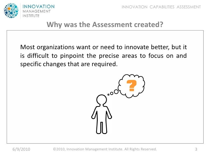 Innovation Capabilities Assessment - Introduction Slide 3