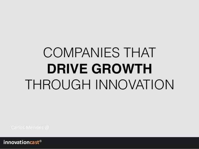 Growth through prolific innovation management Slide 2