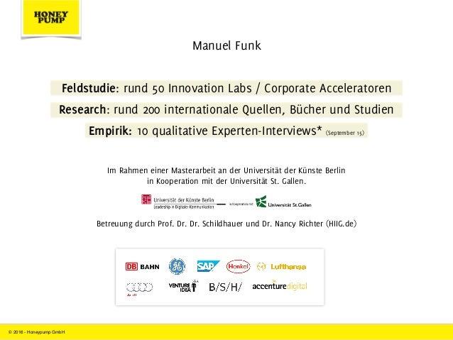 Innovation Labs und Corporate Acceleratoren im Innovations-Dilemma Slide 2