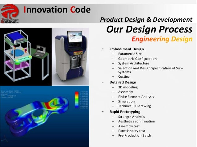Innovation code presentation more with less in product for Innovative product development companies