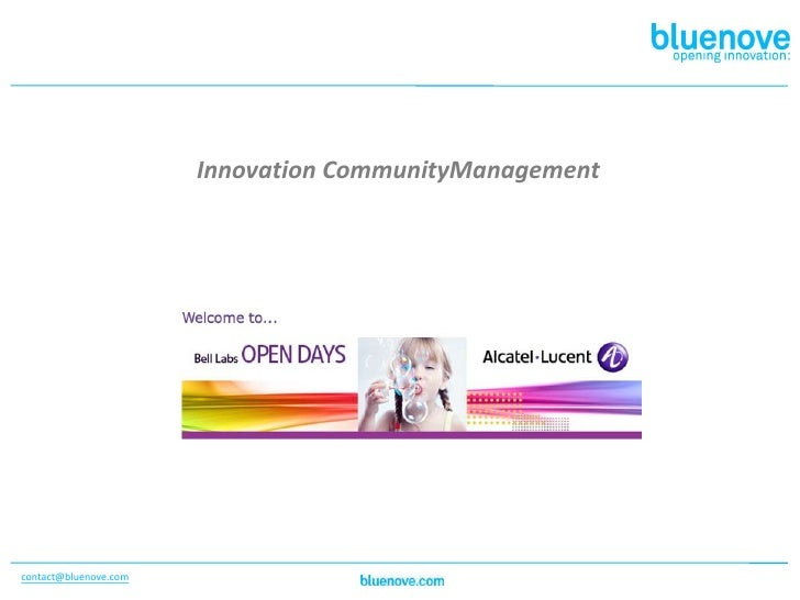 Innovation CommunityManagement<br />