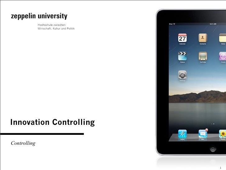 Innovation Controlling  Controlling                             1