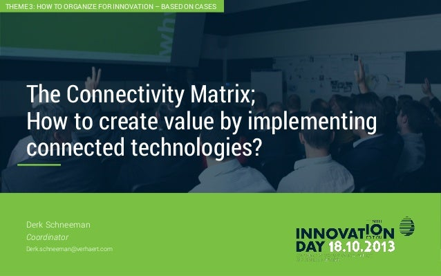 2 The Connectivity Matrix; How to create value by implementing connected technologies? CONFIDENTIAL Derk Schneeman Coordin...