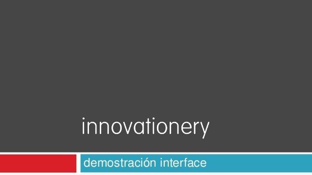 demostración interface