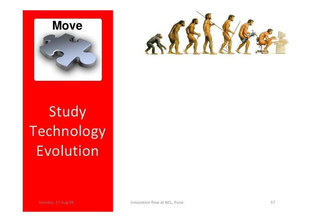 Move        Study Technology  Evolution   Shankar, 27 Aug'09   !nnovation flow at NCL, Pune   57