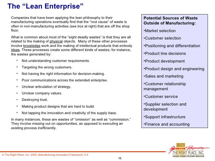"""The """"Lean Enterprise"""" <ul><li>Companies that have been applying the lean philosophy to their manufacturing operations even..."""