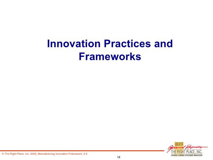 Innovation Practices and Frameworks