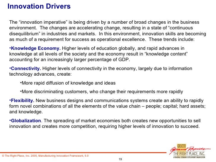 """Innovation Drivers <ul><li>The """"innovation imperative"""" is being driven by a number of broad changes in the business enviro..."""