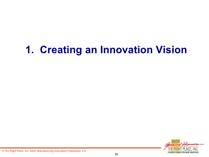 1.  Creating an Innovation Vision