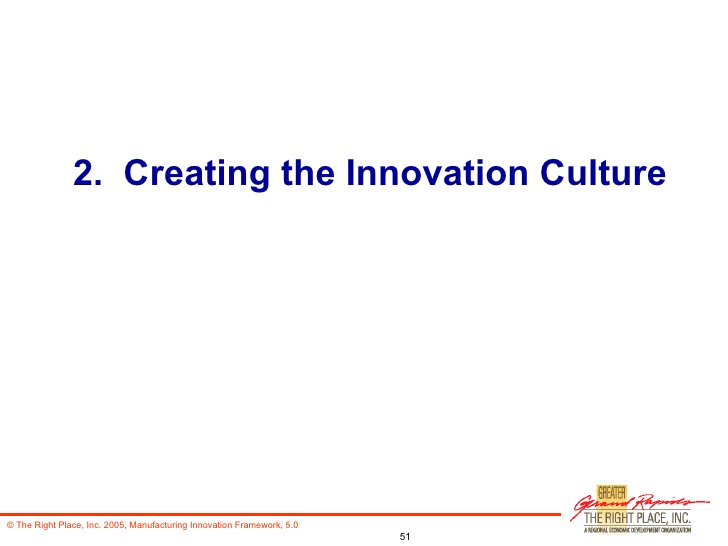 2.  Creating the Innovation Culture