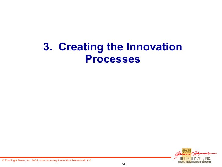 3.  Creating the Innovation Processes