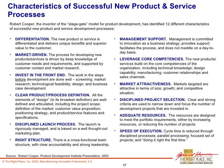 Characteristics of Successful New Product & Service Processes <ul><li>DIFFERENTIATION.  The new product or service is diff...