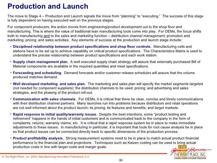 Innovation Framework For Manufacturing (With Addendum)
