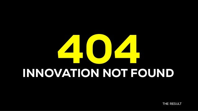 THE RESULT 404INNOVATION NOT FOUND