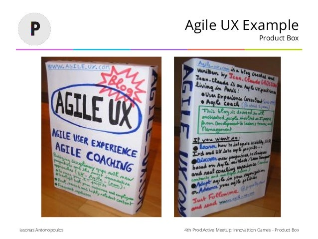 4th Prod.Active Meetup: Innovattion Games - Product BoxIasonas Antonopoulos Agile UX Example Product Box