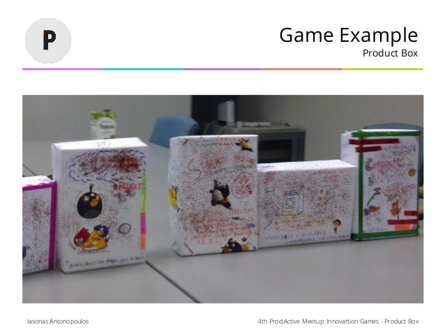 4th Prod.Active Meetup: Innovattion Games - Product BoxIasonas Antonopoulos Game Example Product Box