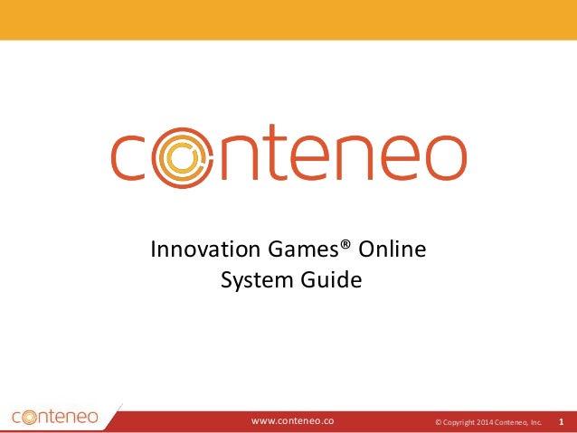 innovation games online system guide. Black Bedroom Furniture Sets. Home Design Ideas