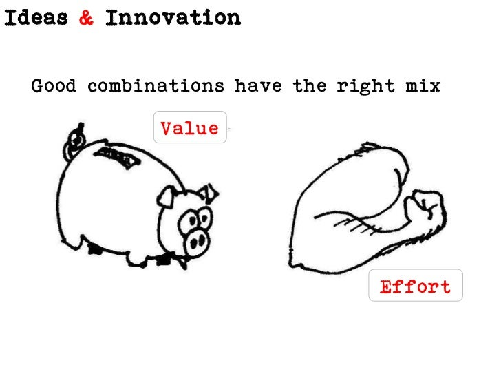 Good combinations have the right mix<br />Value<br />Effort<br />