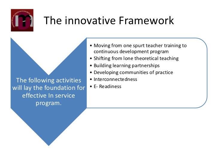 Innovative Classroom Teaching Practice ~ Innovation in service teachers training program