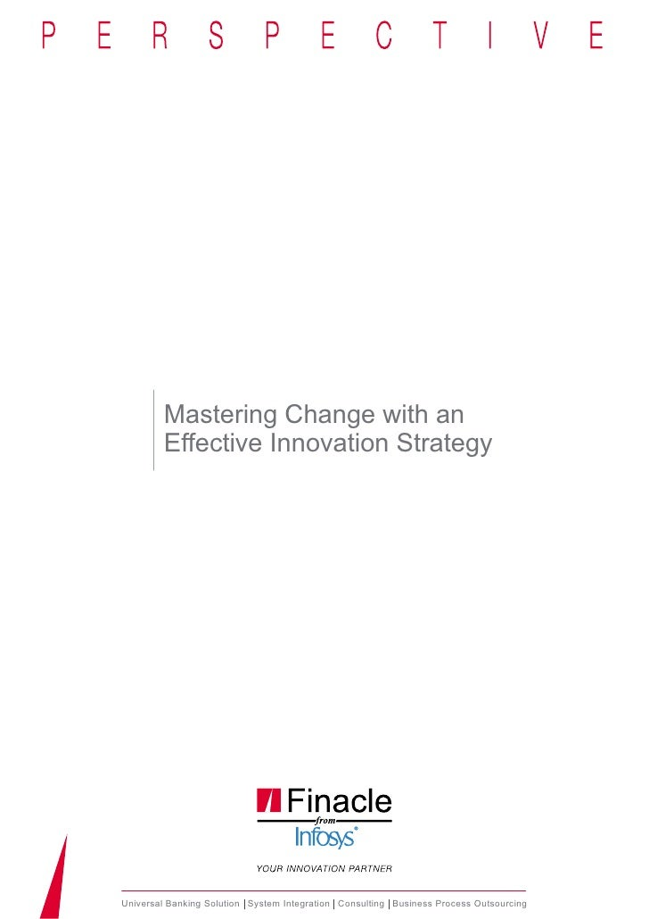 Mastering Change with an        Effective Innovation StrategyUniversal Banking Solution System Integration Consulting Busi...