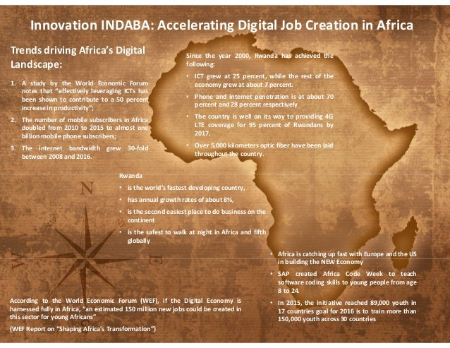 "Trends driving Africa's Digital Landscape: 1. A study by the World Economic Forum notes that ""effectively leveraging ICTs ..."