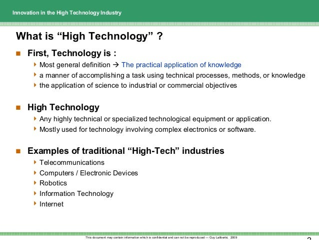 tendencies of high tech industries essay 1 introduction this brief explores the landscape of high-tech industries in the united states this report defines high-tech industries, examines where they are concentrated across.