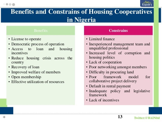 Cooperative Societies, Housing Provision and Poverty Alleviation in Nigeria