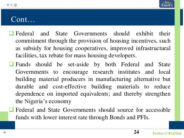 Housing provision in nigeria the cooperative