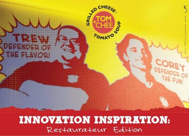 Innovation inspiration | Restaurateur Edition