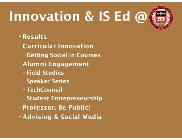 Innovation, Tech Education & Entrepreneurship at Boston College Slide 3
