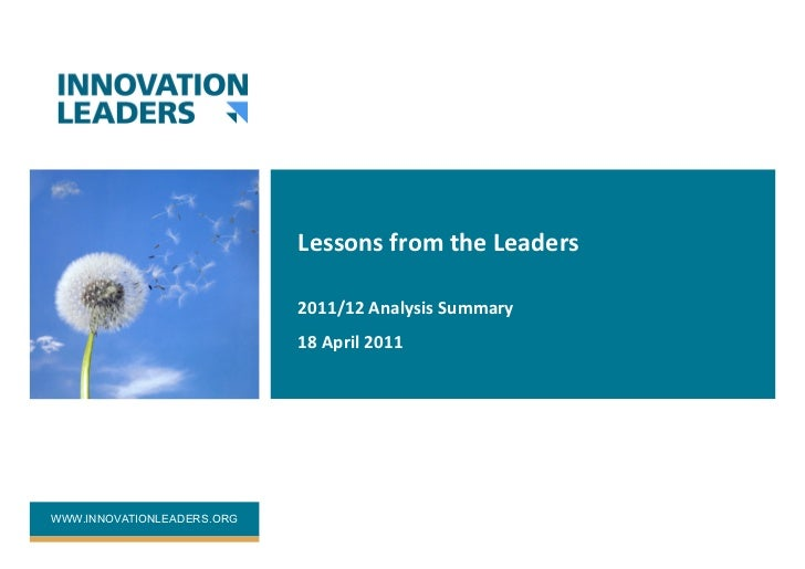 Lessons from the Leaders                             2011/12 Analysis Summary                             18...