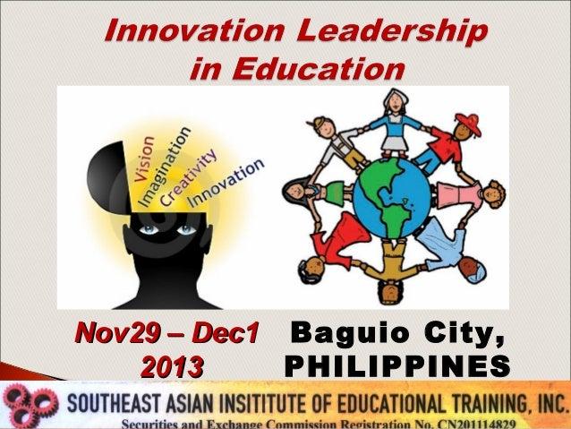 Nov29 – Dec1 Baguio City, 2013 PHILIPPINES