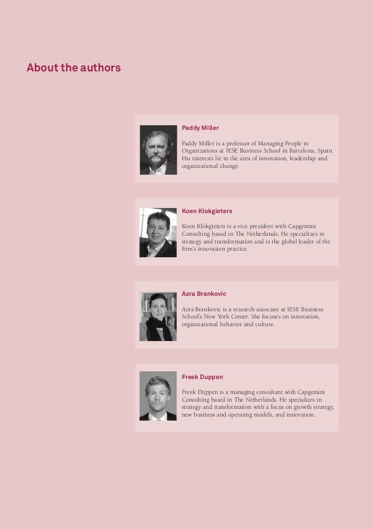 Innovation Leadership Study: Managing Innovation - An Insider Perspective Slide 2