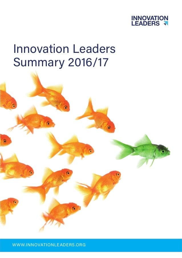 Innovation Leaders Summary 2016/17 WWW.INNOVATIONLEADERS.ORG