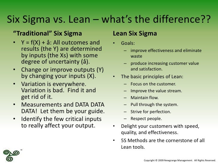 article difference between six sigma and lean six sigma