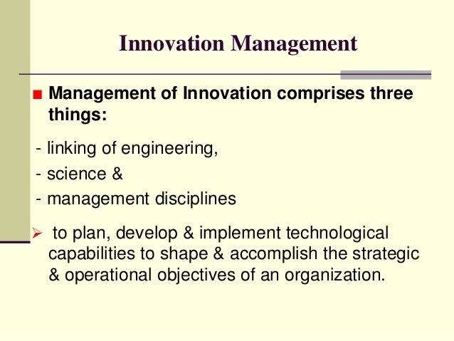 INNOVATION MANAGEMENT DEFINITION PDF DOWNLOAD