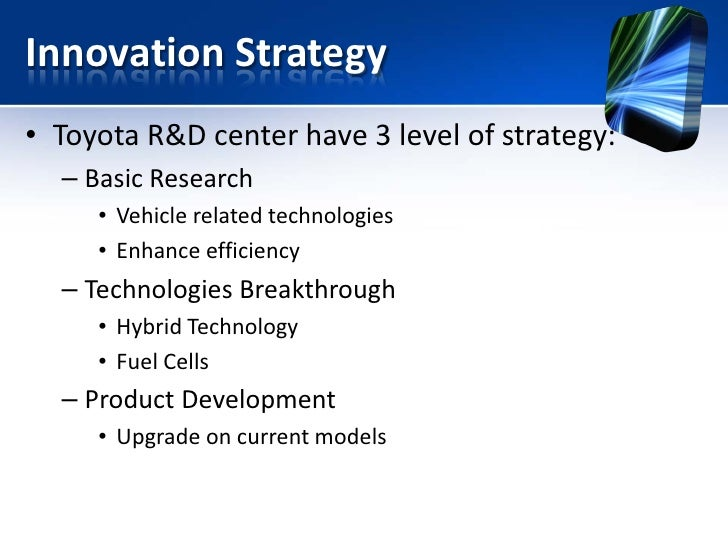 toyota innovation strategy