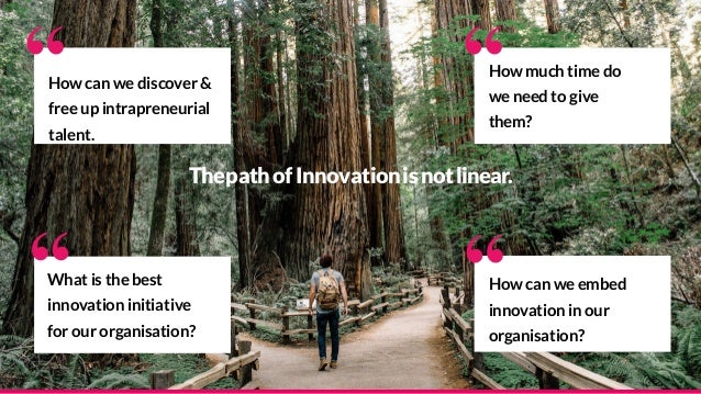 """""""What is the best innovation initiative for our organisation? How much time do we need to give them? """" How can we embed in..."""