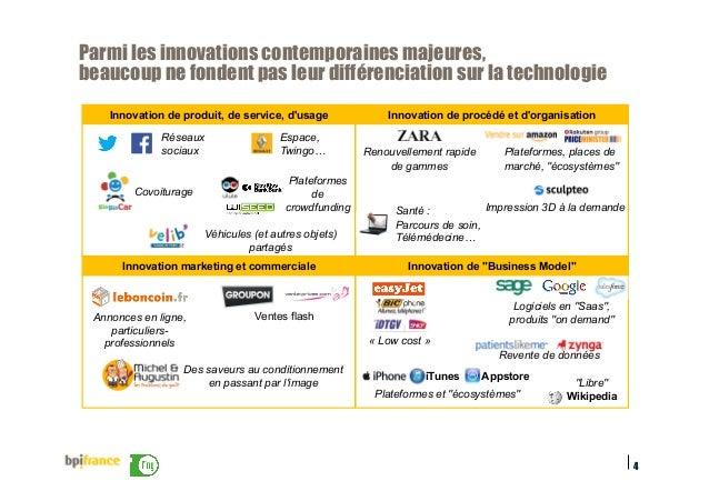 4 Parmi les innovations contemporaines majeures, beaucoup ne fondent pas leur différenciation sur la technologie Innovatio...