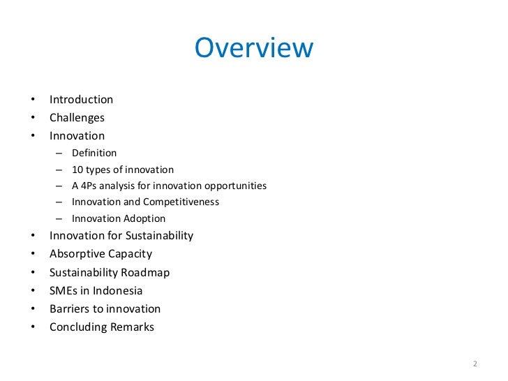 Innovation of small medium enterprises for sustainability Slide 2