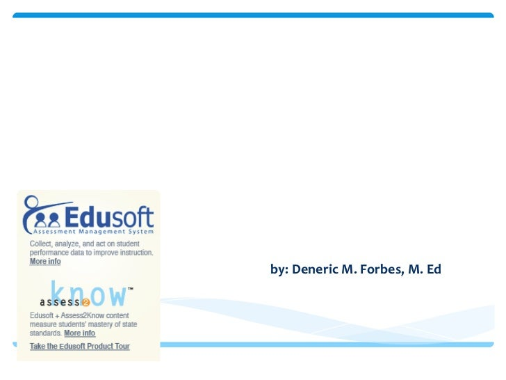 "Diffusion of Innovations "" Edu soft"" by: Deneric M. Forbes, M. Ed ."