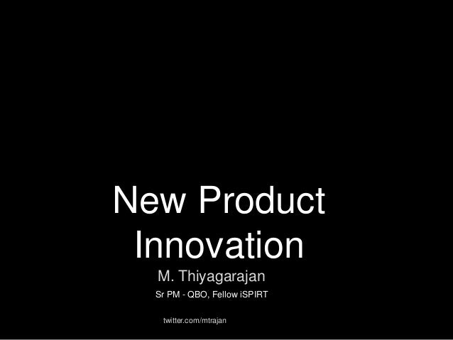 New product innovation for Product innovation company
